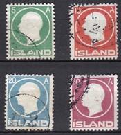 IS012 – ISLANDE – ICELAND – 1912 – KING FRDERIK VIII – SG # 102/105 USED 79 € - Gebruikt
