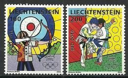 Liechtenstein 2016 Mi 1818-1819 MNH ( ZE1 LCH1818-1819davIO16 ) - Tiro Al Arco