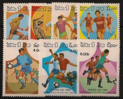 Laos - 1986 - N°Yv. 692 à 698 - Football World Cup Mexico - Neuf Luxe ** / MNH / Postfrisch - Laos