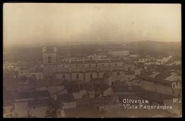 Postal Fotografico OLIVENÇA Vista Panoramica ESPANHA. Tarjeta Postal Antigua OLIVENZA (Badajoz) ESPANA 1920s - Badajoz