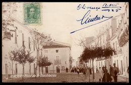 Postal Fotografico OLIVENÇA Plaza De La Constituicion ESPANHA. Tarjeta Postal Antigua OLIVENZA (Badajoz) ESPANA 1920s - Badajoz