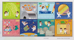 SOUTH KOREA, 2019, MNH,SCIENCE AND TECHNOLOGY, AGRICULTURE, SHIPPING, RATS, SPACE, ENERGIES,  8v - Elettricità
