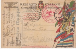 1918 POSTA MILITARE/29 C2 (5.8) Su Cartolina Franchigia - 1900-44 Vittorio Emanuele III