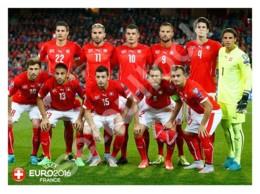 Ukraine   Postcard   Switzerland National Football Team On UEFA Euro 2016   Soccer - Soccer