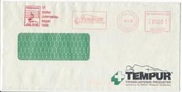 Meter Slogan Commercial Cover Hasler / Tempur / Christmas Seal - 8 December 1998 Aarup - Dänemark