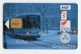 PIAF FRANCE GRENOBLE Ref Passion PIAF 38000-19B 100€ L&G Date 02/04 Tirage 1000 Ex TRAMWAY Pas Référencé Dos Différent - Francia