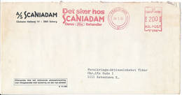 Meter Slogan Commercial Cover Hasler / Ford Dealership Scaniadam - 26 May 1982 København 51 - Briefe U. Dokumente