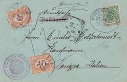 655- POSTKARTE Del 31 Gennaio 1899 Con 5 Pfenning Verde, Da Brema A Venezia - Tassata 15 Cent. - - Deutschland