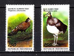 "Indonesia - 1995. Soli 2 "" Uccelli "" Della Serie. The Only 2 ""Birds"" In The Series. Pernice, Tacchino.Partridge, Turkey. - Galline & Gallinaceo"