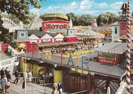 Battersea Park Fun Fair Go Karts Amusements Postcard - London