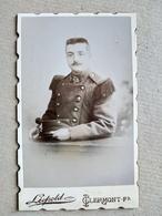 CDV  Militaire Du 38 ème Régiment D'infanterie - 1890 - Photo Léopold , Clermont-Ferrand TBE - War, Military