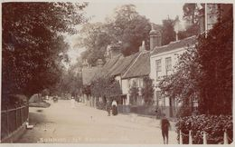Sunny Day In Sonning Reading Antique Real Photo Straw Hat Postcard - Sin Clasificación