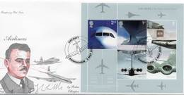 GREAT BRITAIN 2002 50th Anniversary Of Passenger Jet Aviation M/S FDC - 2001-2010 Decimal Issues