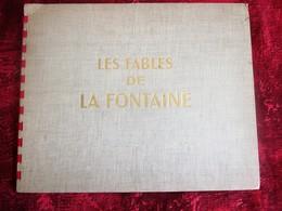 1946 LES FABLES DE LA FONTAINE Livre, BD (en Français) DESSINS ANIMÉS DE G. LEBRET-DARGAUD S. A. EDITIONS-CHEQUE TINTIN - Livres, BD, Revues