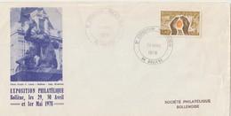 "TIMBRE  Sur Enveloppe  "" 3éme EXPOSITION PHILATÉLIQUE BOLLENE  "" Cachet Temporaire 20/avril/1er Mai/1978 - Briefe U. Dokumente"