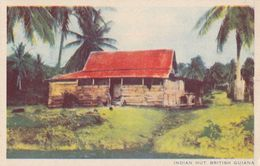 British Guiana Guyana Native Indian Hut House Old Postcard - India