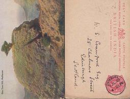 One Tree Hill Matheran Antique India Indian + Chinsura Postmark 2x Postcard - India