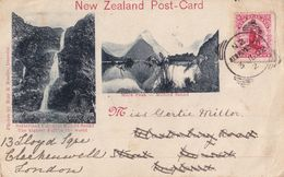 Sutherland Fall Summit Earliest Ever ? 1902 New Zealand Postcard - New Zealand
