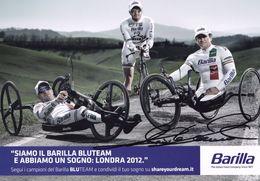 Barilla Bluteam Italian Cycling Paraplegic Hand Signed Photo - Attori
