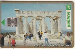 EL SALVADOR - Acropolis/Athens, Chip SC7, Used - El Salvador