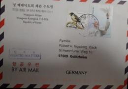 U) 2014, KOREA, POPE FRANCISCO VISIT TO KOREA, BIRD,  COVER FROM KOREA TO GERMANY, BY AIRMAIL - Korea (...-1945)