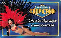 Phone Card From The Tropicana Casino In Las Vegas, NV - Tarjetas De Casino