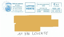 EMA HU 422710 Nord Flamme Mairie Landrecies Blason Armoiries - EMA (Empreintes Machines à Affranchir)