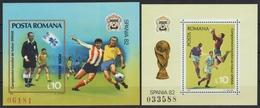 Rumänien 1981 - Mi-Nr. Block 184-185 ** - MNH - Fußball / Soccer - 1948-.... Republiken