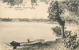 "CPA TAHITI ""Papeete, Quai De L'Uranie"" - Polynésie Française"