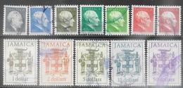Jamaica   1987  12 Diff Used To The $50  2016 Scott Value $10.70 - Giamaica (1962-...)