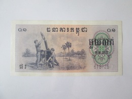 Cambodia/Democratic Kampuchea 0.10 Riel=1 Kak 1975 Banknote AUNC-Red Khmers(Khmer Rouge) Pol Pot 1975-1979 - Cambodia