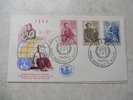 Fdc Belgique Belgie 1960 Année Mondiale Du Refugié  / Fdc Z/s 1125/1127 - 1951-60