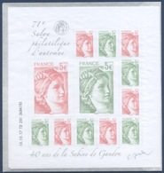 F 5179 71e Salon Philatélique D'automne - 40e Anniversaire Marianne De Gandon Faciale 20 € - Nuovi