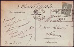 France - 1924 H - Olympic Games 1924 - Postcard (Bordeaux / Gironde) - Estate 1924: Paris