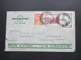 Argentinien 1940 Zensurpost Luftpost Via Condor Mit Mehrfachzensur Der Wehrmacht OKW Verschlussstreifen Geöffnet - Argentina