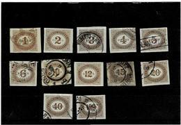 AUSTRIA ,serie Completa Usata ,alcuni Nuovi ,qualita Splendida - 1850-1918 Empire