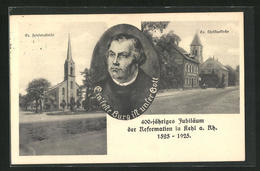 AK Kehl A. Rhein, Blick Auf Die Ev. Friedenskirche Und Auf Die Ev. Christuskirche Mit Portrait - Kehl