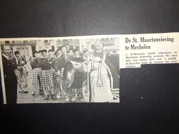 """Origineel Knipsel ( 3002 ) Uit Tijdschrift """" Ons Volk """"  1935 :   Mechelen  Malines  Sint - Maarten - Vieux Papiers"""