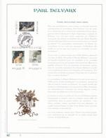Exemplaire N°1 Feuillet Tirage Limité 500 Exemplaires Frappe Or Fin 23 Carats 2699 à 2701 Pal Delvaux Peinture Peintre - Feuillets
