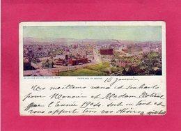 ETATS-UNIS, COLORADO, Panorama Of DENVER, Colorisée, 1904, Pliures - Denver