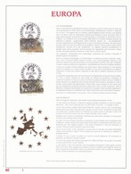 Exemplaire N°1 Feuillet Tirage Limité 500 Exemplaires Frappe Or Fin 23 Carats 2693 2694 Europa Légendes Folklore - Feuillets
