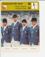 Equitation Concours De Saut Rozier Michel Roche Roguet Hubert Parot Hippisme Vintage Hippique Sport équestre 1-FICH-DIV1 - Sport