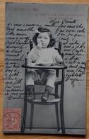 Le Déjeuner De Bébé - Bébé Ne Parle Encore Qu'avec Ses Yeux Mais On Le Comprend - Dos Simple 1906 - (n°17069) - Neonati