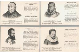 JM01.02 / CPA / 4 X SAVANTS BELGES DU XVI ème SIECLE / VESALE.... - Personnages Historiques