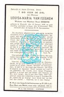 DP Louisa M. Van Iseghem ° Kortrijk 1859 † Ieper 1941 X Henri Sierens - Devotion Images