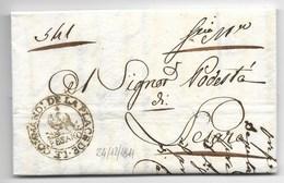 PERIODO NAPOLEONICO - DA PESARO PER CITTA' - 24.12.1811. - ...-1850 Voorfilatelie