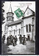 63 - OLBY- L'église (Sortie De La Messe) - Autres Communes