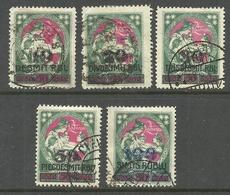LETTLAND Latvia 1921 Michel 70 - 74 O - Lettland