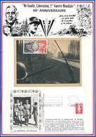 FRANCE - CARTE + ENVELOPPE CINQUANTENAIRE LIBERATION MAUBEUGE 11/9/1994 + 2/9/1994 - Guerre Mondiale (Seconde)