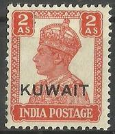 Kuwait - 1945 Overprint On India King George VI 2a MH *     SG  57   Sc 64 - Kuwait